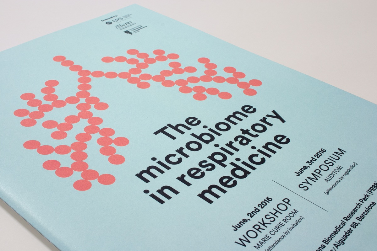 The Microbiome in respiratory medicine. Brochure's cover